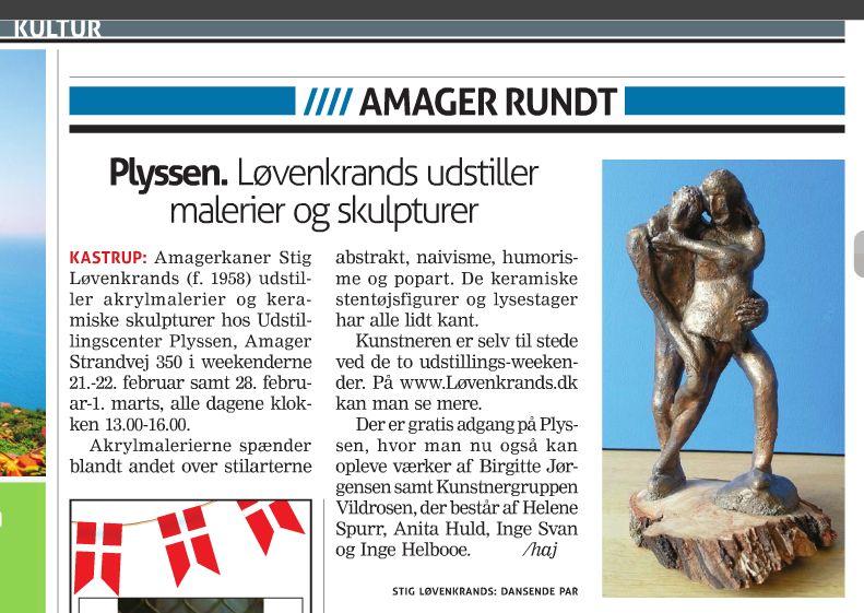 Stig i Amager Bladet 17 Februar 2015 side 40