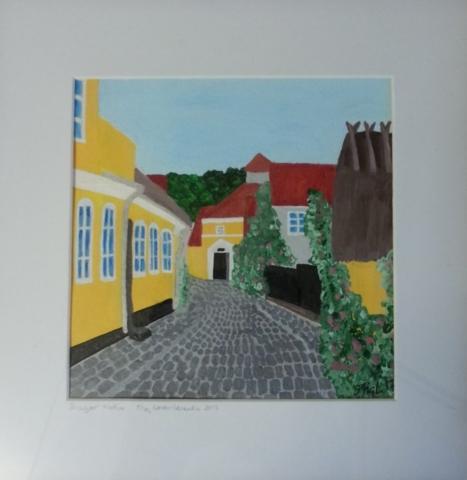 Nr.244 25x25 Dragør Motiv Van Ostengade