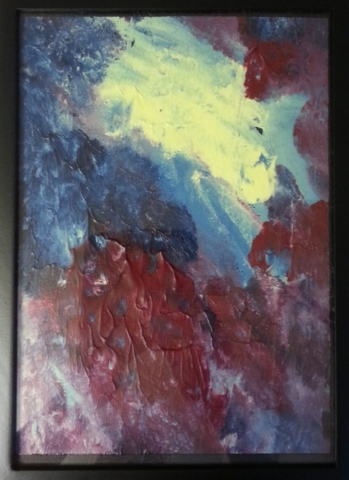 Nr.252 Akryl på Papir 25x31