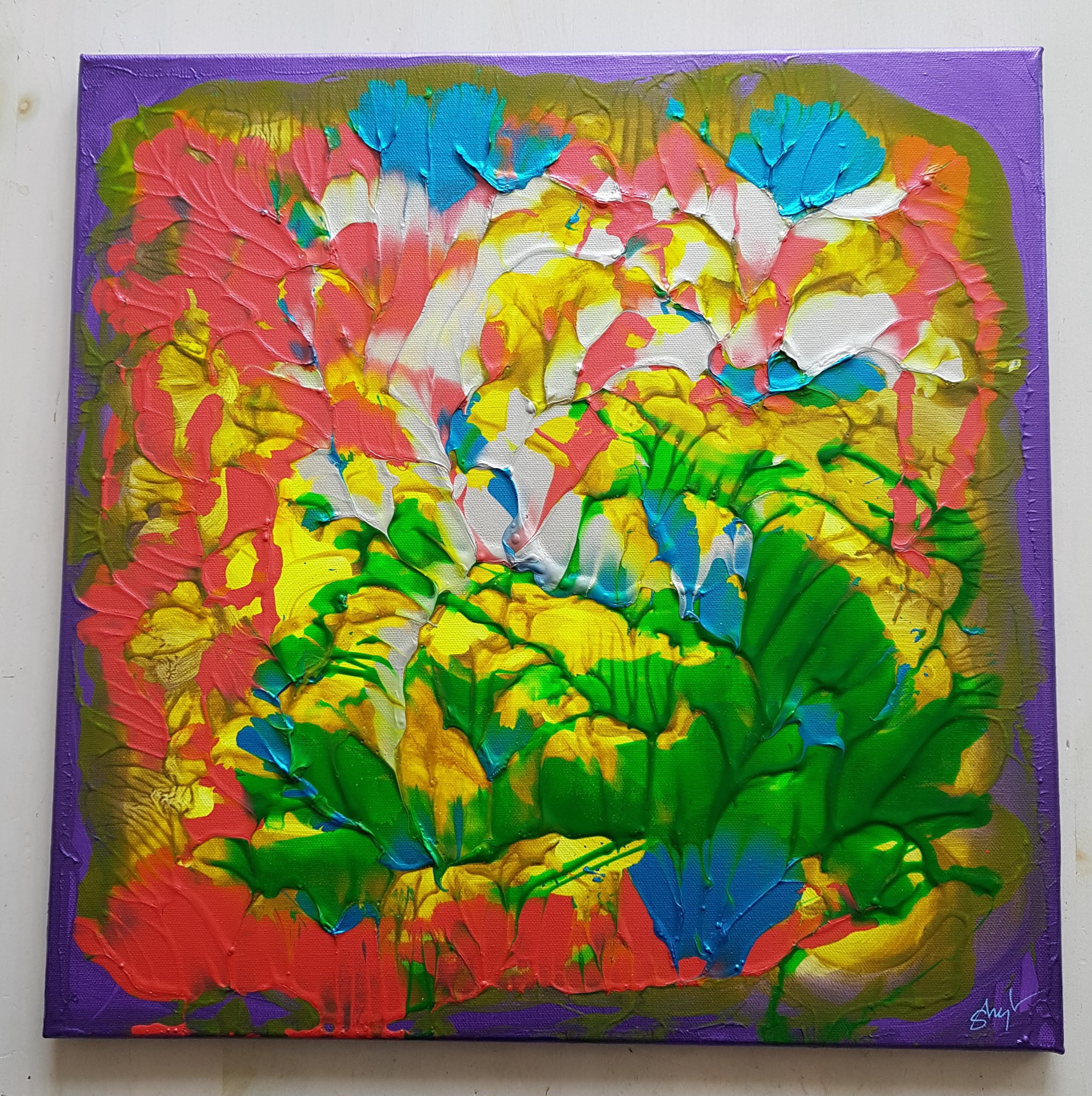 nr. 297-2018 50x50 Grønne Blomster